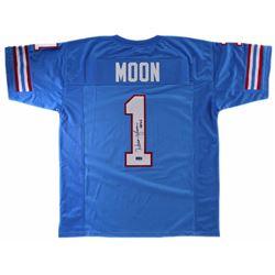 Warren Moon Signed Custom Jersey with +IBw-HOF 06+IB0 - Radtke COA