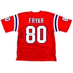 Irving Fryar Signed  Custom Jersey with Inscription - Radtke COA