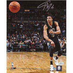 Giannis Antetokounmpo Signed NBA Photo - Steiner COA