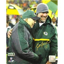 Brett Favre Signed Jersey Retirement Ceremony Photo - Radtke/SQOR COA