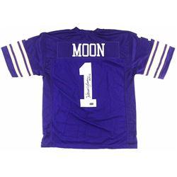Warren Moon Signed TB Custom Jersey with Inscription - Radtke COA
