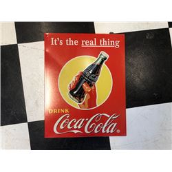 NO RESERVE ITS THE REAL THING COLLECTIBLE COCA COLA SIGN