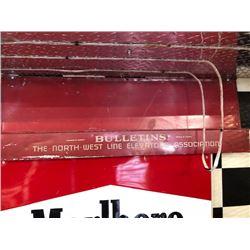 NO RESERVE BULLETINS THE NORTH WEST LINE ELEVATORS ASSOCIATION VINTAGE CIRCA 1950S STEEL SHELF