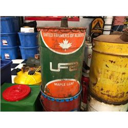 NO RESERVE VINTAGE UFA AND ESSO OIL BARRELS