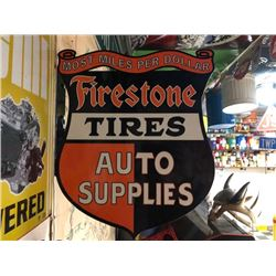 NO RESERVE FIRESTONE TIRES AUTO SUPPLIES WALL MOUNT