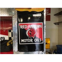 NO RESERVE RED INDIAN MOTOR OILS MINI CUSTOM FRIDGE
