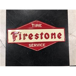 NO RESERVE VINTAGE FIRESTONE TIRE SIGN