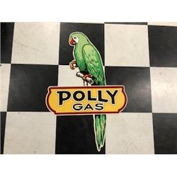 NO RESERVE RARE POLLY GAS COLLECTIBLE SIGN