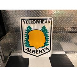 NO RESERVE YELLOWHEAD HIGHWAY SIGN