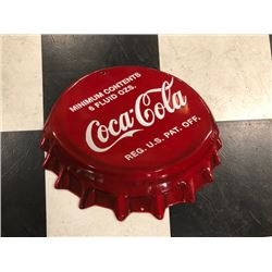 NO RESERVE COCA COLA BOTTLE CAP COLLECTIBLE SIGN