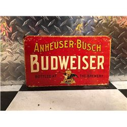 NO RESERVE VINTAGE BUDWEISER SIGN