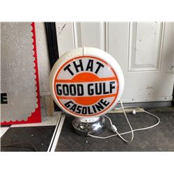 NO RESERVE THAT GOOD GULF GASOLINE LIGHT UP GLOBE