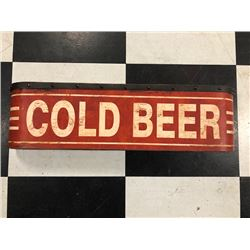 NO RESERVE VINTAGE COLD BEER SIGN