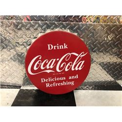 NO RESERVE COCA COLA BOTTLE CAP SIGN