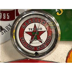 NO RESERVE TEXACO HANGING LED CLOCK
