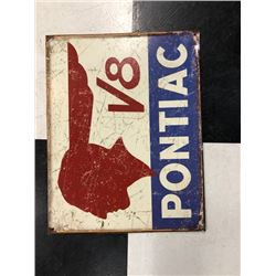 NO RESERVE VINTAGE PONTIAC V8 COLLECTIBLE SIGN