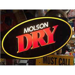 NO RESERVE MOLSON DRY LED SIGN
