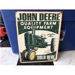 NO RESERVE VINTAGE COLLECTIBLE JOHN DEERE STEEL SIGN