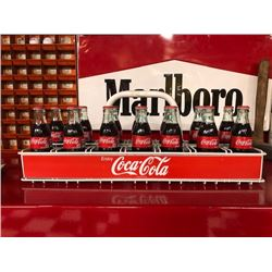 NO RESERVE COMPLETE SET OF COCA COLA GLASS BOTTLES WITH VINTAGE CASE AND SELLING WITH BONUS COCA COL