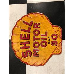 NO RESERVE VINTAGE COLLECTIBLE SHELL MOTOR OIL SIGN