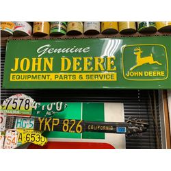 NO RESERVE EXTRA LARGE GENUINE JOHN DEERE EQUIPMENT PARTS AND SERVICE COLLECTIBLE SIGN