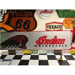 NO RESERVE EXTRA LARGE STEEL CUSTOM INDIAN MOTORCYCLE SIGN ONE OF A KIND