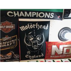 NO RESERVE MOTORHEAD ENGLAND FLAG