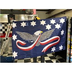 NO RESERVE BALD EAGLE COLLECTIBLE FLAG
