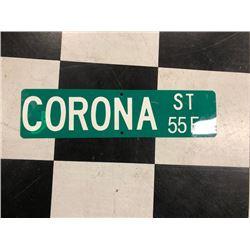 NO RESERVE CORONA ST SIGN