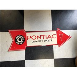 NO RESERVE PONTIAC QUALITY PARTS COLLECTIBLE SIGN