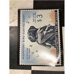 NO RESERVE MIGRATORY BIRD HUNTING STAMP COLLECTIBLE SIGN