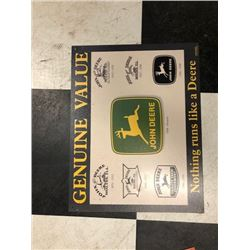 NO RESERVE JOHN DEERE GENUINE VALUE COLLECTIBLE SIGN