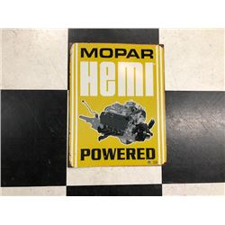 NO RESERVE VINTAGE MOPAR HEMI POWERED SIGN