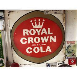 NO RESERVE ROYAL CROWN COLA VINTAGE SIGN