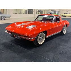 4:30 PM SATURDAY FEATURE STUNNING! EXTREMELY RARE 1963 CHEVROLET CORVETTE SPLIT WINDOW