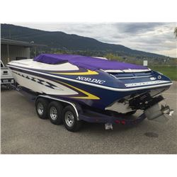 2002 NORDIC HEAT CUSTOM SPEED BOAT AND 2001 NORDIC TRAILER SELLING AS ONE LOT