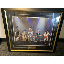 TRAGICALLY HIP AUTOGRAPHED FRAMED MAN MACHINE POEM TOUR PICTURE