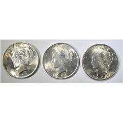 3-1923 AU/BU PEACE DOLLARS