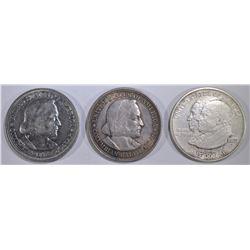 1892 & 93 COLUMBIAN & 23-S MONROE  HALVES
