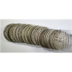 ROLL OF 20 MIXED DATE WALKING LIBERTY HALF DOLLARS
