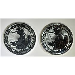 2017 & 18 BU 1oz SIVER BRITISH BRITANNIA COINS