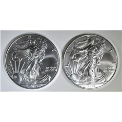 2-2019 GEM BU AMERICAN SILVER EAGLES