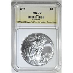 2011 AMERICAN SILVER EAGLE OBCS PERFECT GEM BU