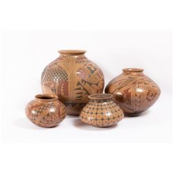 Four Mata Ortiz Pots