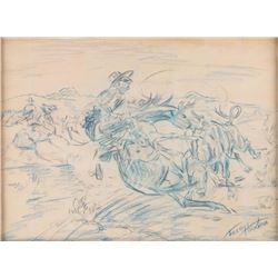 Fred Harman, two drawings