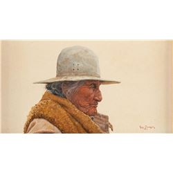 Ray Swanson, oil on paper board