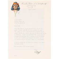 Olaf Wieghorst, illustrated envelope & letter