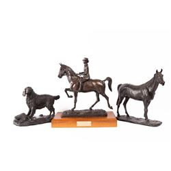 E.E. Heikka, three bronzes