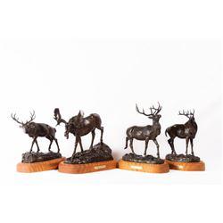 Bob Scriver, four bronzes