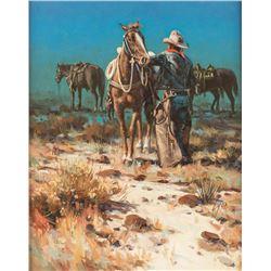 Harold Lyon, oil on canvasboard